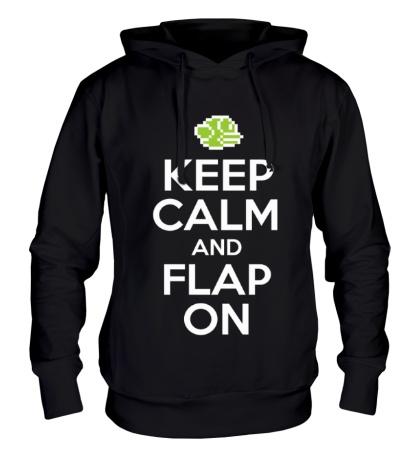 Толстовка с капюшоном Keep Calm & Flap On