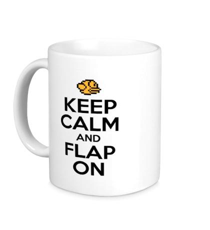 Керамическая кружка Keep Calm & Flap On