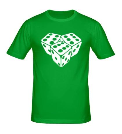 Мужская футболка Игральные кубики