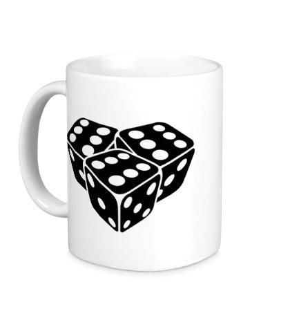 Керамическая кружка Игральные кубики