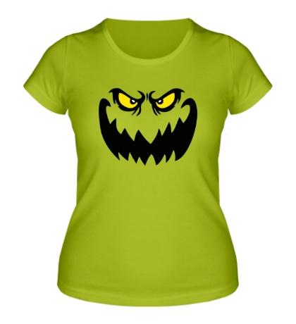 Женская футболка Страшное лицо