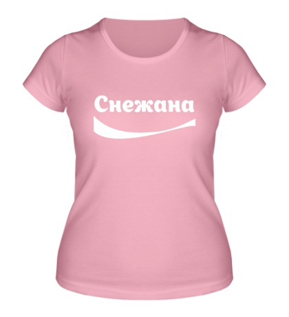 Женская футболка Снежана