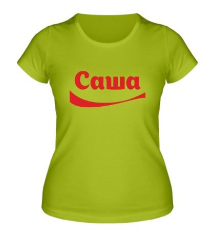 Женская футболка Саша