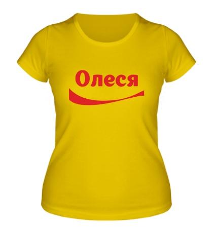 Женская футболка Олеся