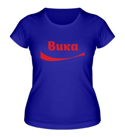 Женская футболка «Вика»