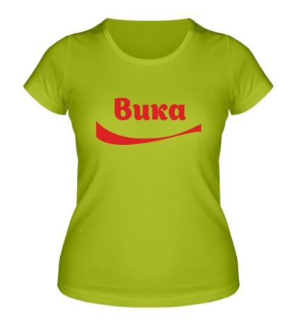 Женская футболка Вика