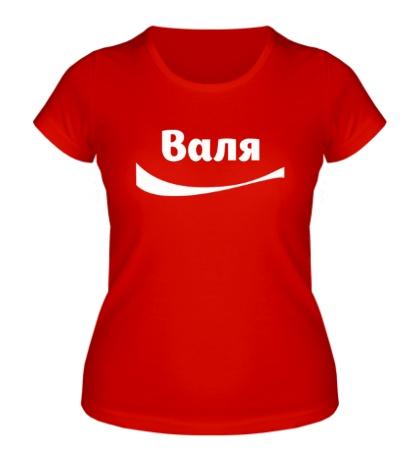 Женская футболка Валя