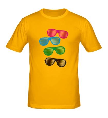 Мужская футболка Разноцветные очки