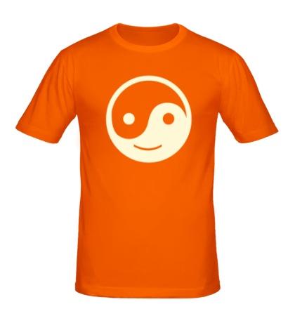 Мужская футболка Веселый Инь Янь, свет