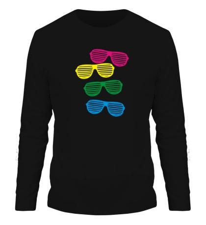Мужской лонгслив Разноцветные очки
