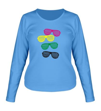 Женский лонгслив Разноцветные очки
