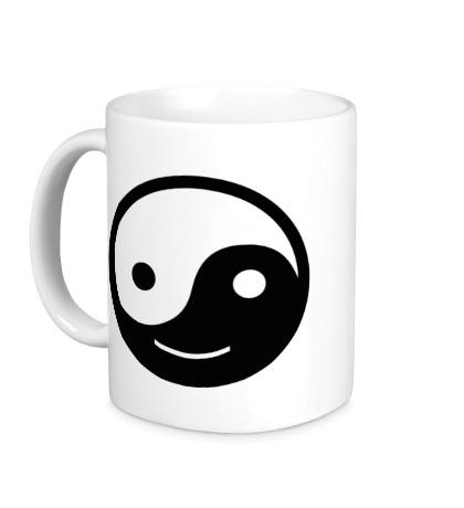 Керамическая кружка Веселый Инь Янь