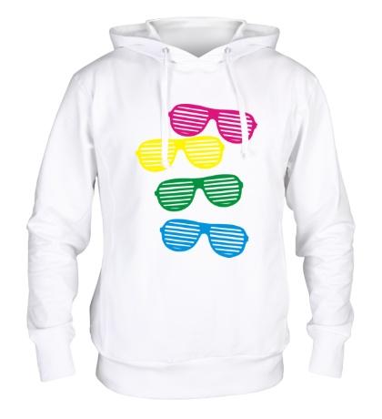 Толстовка с капюшоном Разноцветные очки