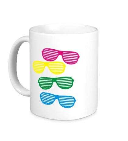 Керамическая кружка Разноцветные очки
