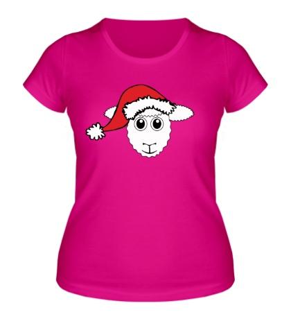 Женская футболка Овечка в шапке