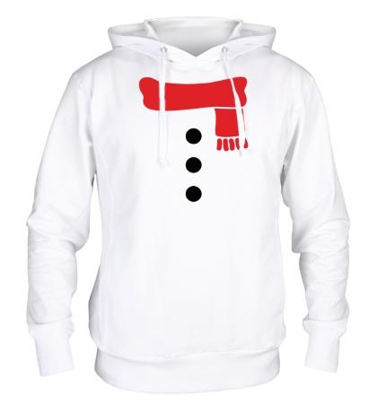Толстовка с капюшоном Костюм снеговика