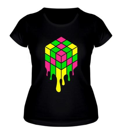 Женская футболка Music Cube