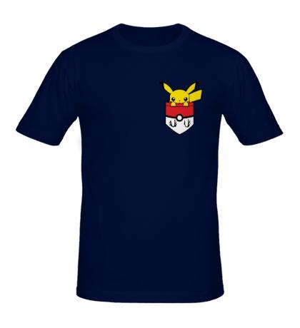 Мужская футболка Пикачу в кармане