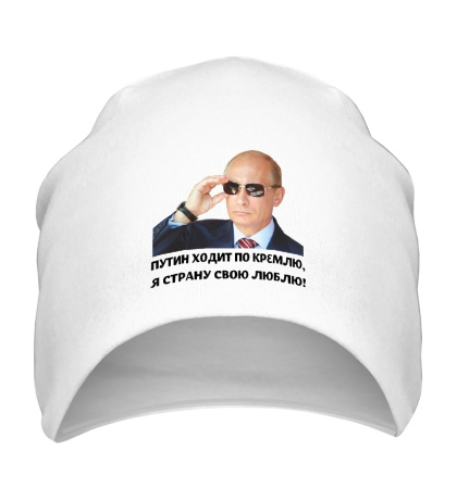 Шапка Путин ходит по Кремлю