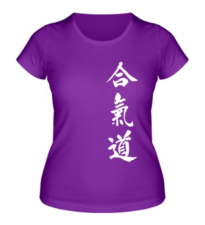 Женская футболка Иероглифы Тхэквондо