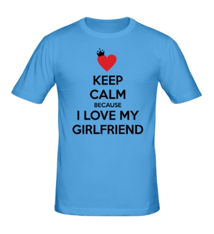 Мужская футболка I love my girlfriend