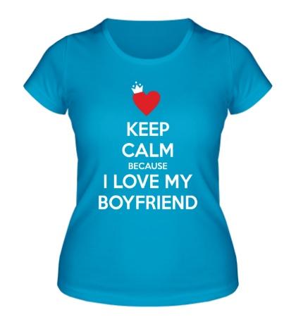 Женская футболка I love my boyfriend