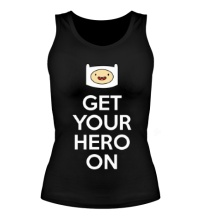 Женская майка Get your hero on