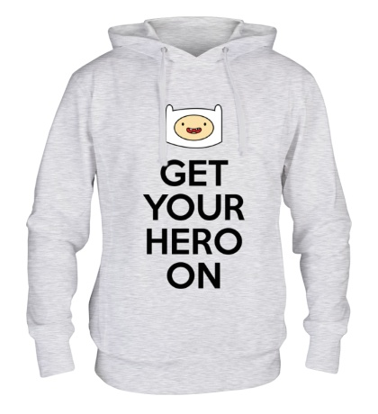 Толстовка с капюшоном Get your hero on