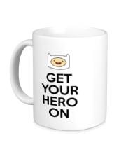 Керамическая кружка Get your hero on