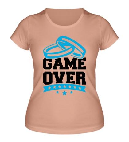 Женская футболка Wedding: Game Over