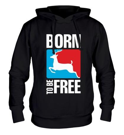 Толстовка с капюшоном Born to be free
