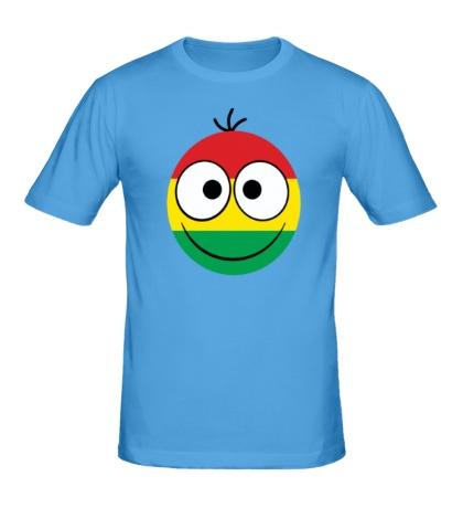 Мужская футболка Раста-смайл