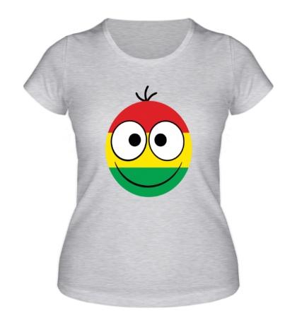 Женская футболка Раста-смайл