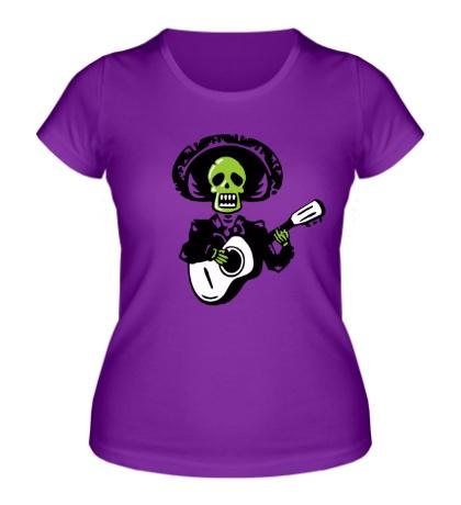 Женская футболка Мертвый музыкант
