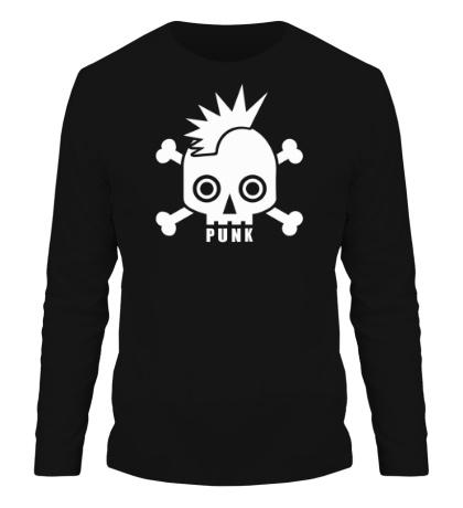 Мужской лонгслив Punk Skull