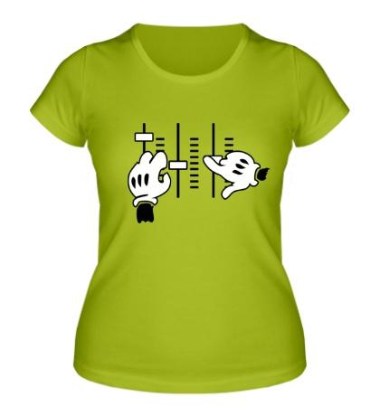 Женская футболка Music Mixer