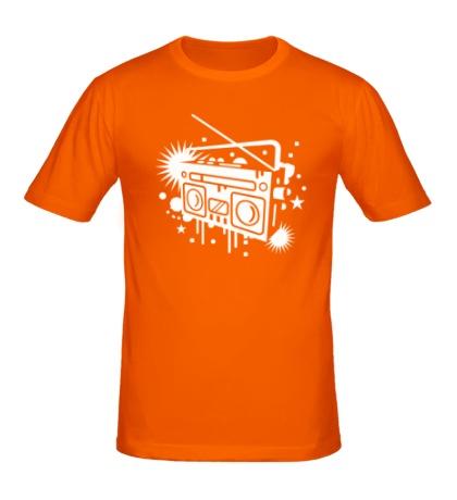 Мужская футболка Старый магнитофон