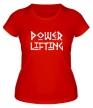 Женская футболка «Powerlifting» - Фото 1