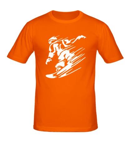 Мужская футболка Сноубординг