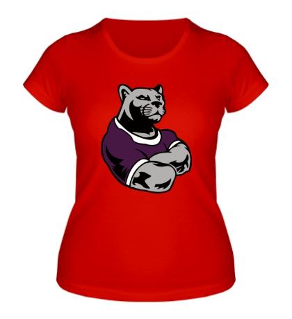 Женская футболка Пантера-бодибилдер