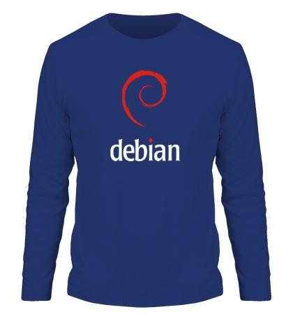 Мужской лонгслив Debian