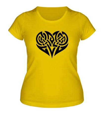 Женская футболка Кельтские узоры в виде сердца