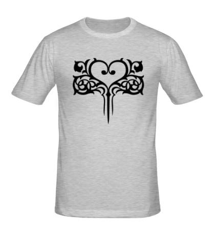 Мужская футболка Узор в виде сердца