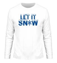 Мужской лонгслив Let it snow