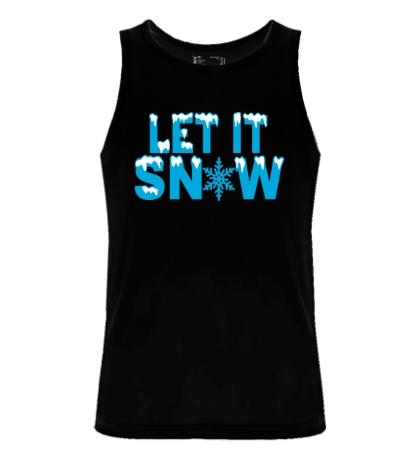 Мужская майка Let it snow