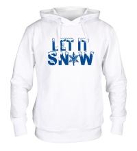 Толстовка с капюшоном Let it snow
