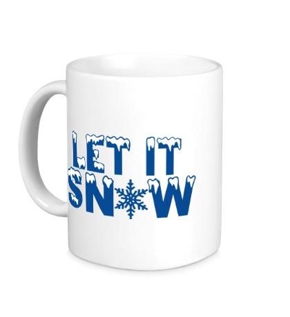 Керамическая кружка Let it snow