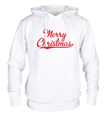 Толстовка с капюшоном Merry Christmas