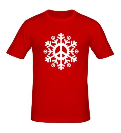 Мужская футболка Снежинка мира