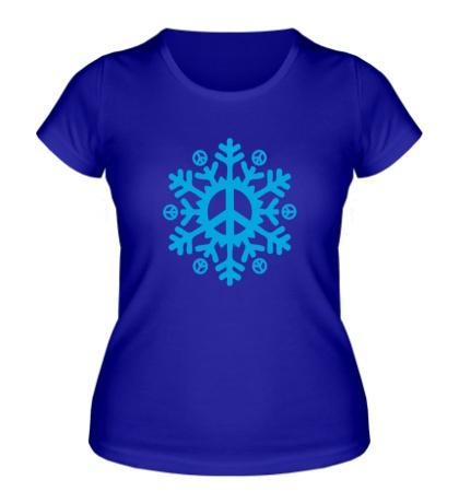 Женская футболка Снежинка мира